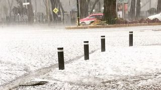 Mexico City Pelted by Sudden Spring Hailstorm