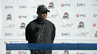 Tiger Woods' son Charlie grabs attention at PNC Championship