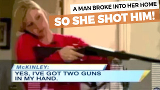 Woman Calls 911, Shoots Home Intruder Moments Later - Video