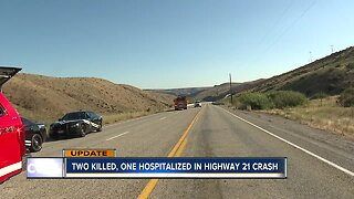 UPDATE: Two killed, one hospitalized in crash on Highway 21