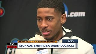 Michigan embracing underdog role - Video