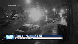Surveillance video shows fatal hit-and-run crash that killed Milwaukee man - Video