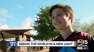 Colorblind Valley boy sees color for the first time with special glasses