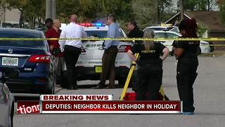 Deputies: Neighbor kills neighbor in Holiday - Video