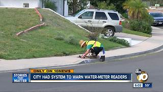 City had warning system for water-meters readers - Video