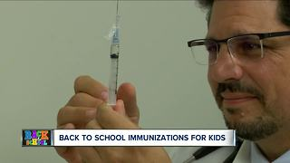 What you need to know about back to school immunizations