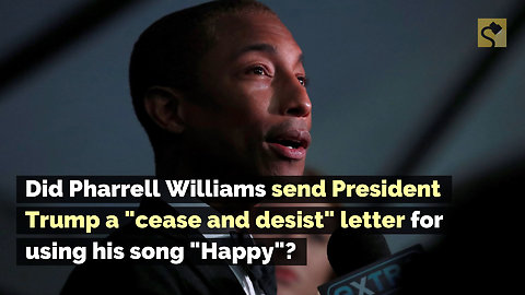 Did Pharrell Williams Send President Trump a 'Cease and Desist' Letter for Using His Song 'Happy'?