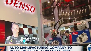 DENSO holding career event at the Detroit Auto Show - Video