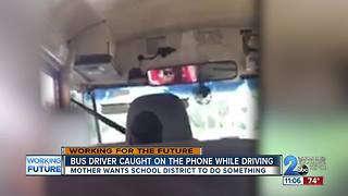 Student catches bus driver using phone while driving, mom wants answers