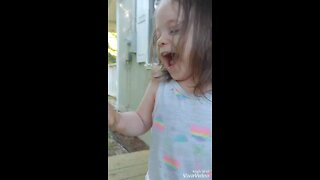 Toddler gets messy
