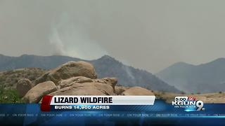 The Lizard Fire has increased to 14,900 acres. 5 percent containment