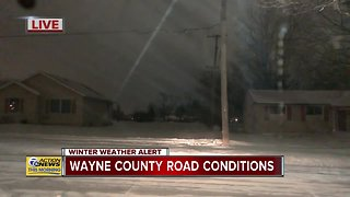 Road conditions in Wayne County - Video