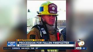 Procession for fallen firefighter to take place Sunday - Video