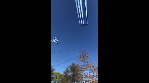 Blue Angels & Thunderbirds fly over Long Island for frontline workers