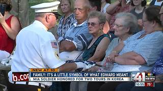 Korean War veteran honored after 66 years MIA - Video