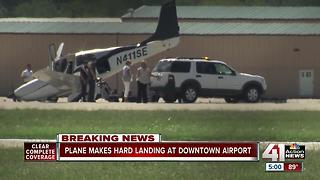 Aircraft makes hard landing at Downtown Airport - Video