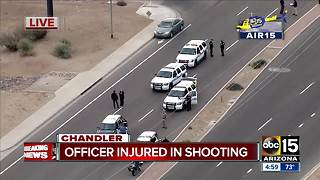 Chandler officer shot in traffic stop - Video