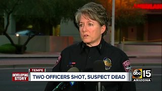 Two Tempe officers recovering after shootout with suspect - Video
