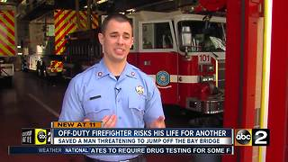 Howard Co. first responder saves man from suicide on Chesapeake Bay Bridge - Video
