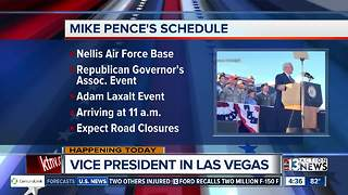 Vice President Pence in town today - Video