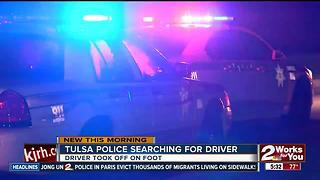 Tulsa Police searching for suspect that led foot chase - Video