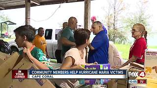 Community members help Hurricane Maria victims