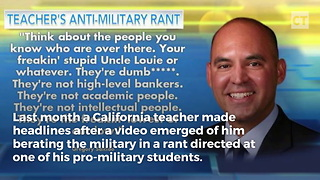 Locals Rip Into Teacher Over Profane Anti-Military Rant - Video