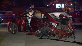Two drivers involved in Akron crash after a canceled police chase arrested on warrants - Video