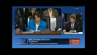 Feinstein Caught in Huge Error During Kavanaugh Hearing