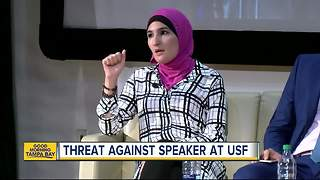 USF investigates social media threats against Muslim American speaker - Video