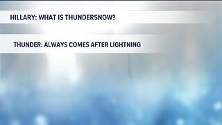 Kevin's Classroom: What is thundersnow?