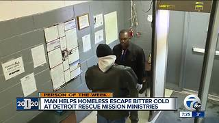 Detroit 2020 Person of the Week: Martez Radney helps homeless escape the bitter cold - Video