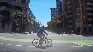 Dashcam Footage Captures Ottawa Cyclist Being Struck by Car - Video