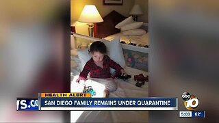 San Diego family remains under quarantine in Northern California