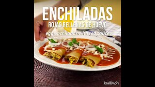 Egg Enchiladas with Red Sauce