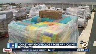 Coast Guard offloads 7 tons of cocaine