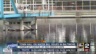 Town hall on water bill issues in Baltimore - Video