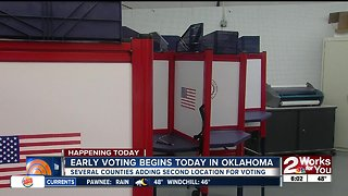 Early voting begins today in Oklahoma