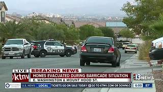 East Las Vegas homes evacuated during police barricade - Video