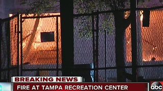 Fire destroys Tampa recreation center - Video