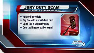 Scam threatens arrest, fines for ignoring jury duty - Video