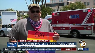 Thousands protest stay at home order in San Diego