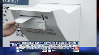American cast their votes in the 2020 election