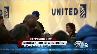 Storm impacting flights at Tucson International Airport - Video