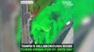 Tampa's Hillsborough River dyed green for annual St. Patrick's Day celebration | Taste and See Tampa Bay