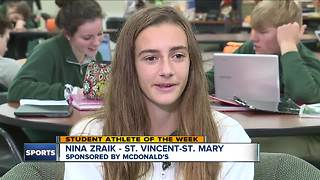 Student Athlete of the Week: Nina Zraik - Video