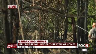 Brush fire controlled in Lehigh Acres