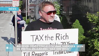 Alleged GOP Congressional Shooter Seen In Photo Declaring 'Tax The Rich' - Video