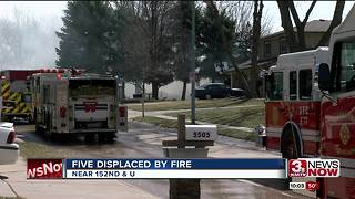 Five displaced by Millard house fire - Video