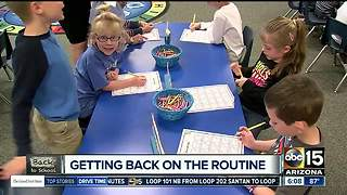 Getting back in the school routine - Video